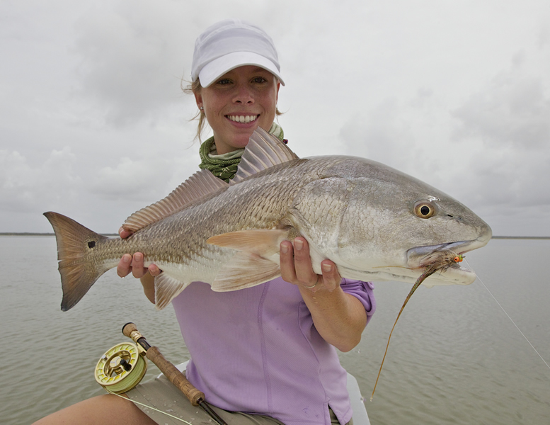 Brooke with Redfish ©Pat Ford 2011