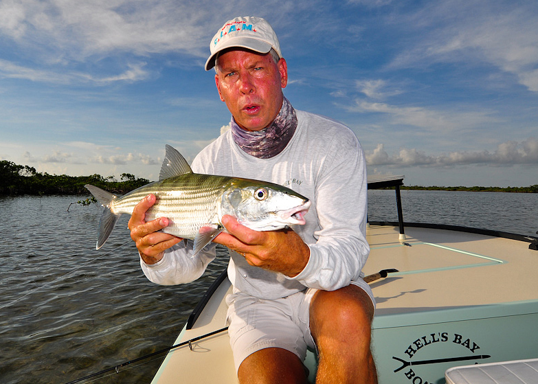 Captain Denkert with Bonefish ©Ross Reeder 2011