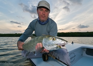 Angler with Big Bonefish