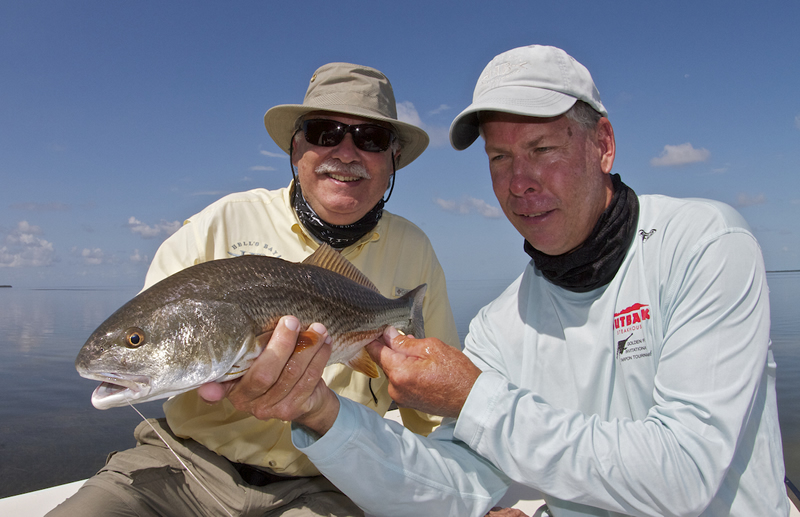 Chico and Capt. Dave with Redfish ©Pat Ford 2011