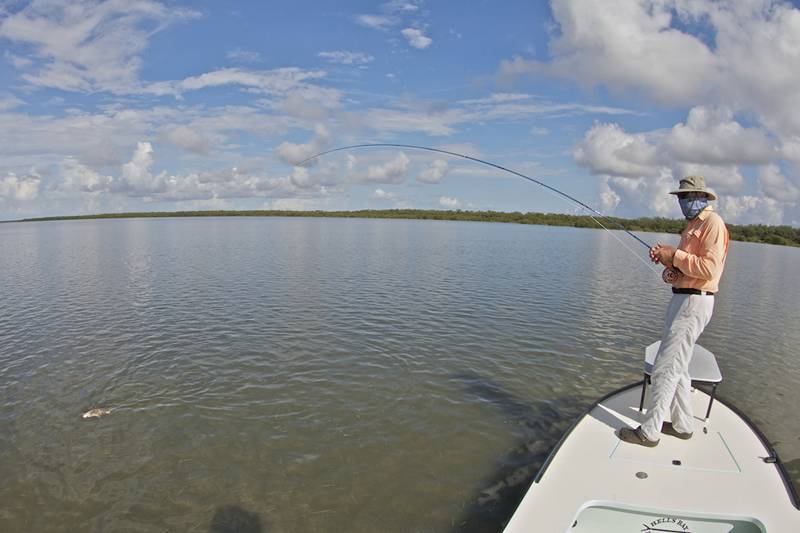 Hooked up to a redfish ©Pat Ford 2011