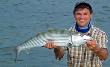 Jeff Harkavy with 12 lb. bonefish